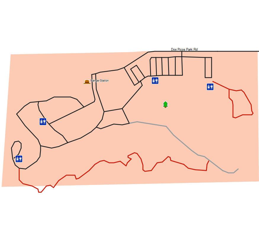 Dos Picos County Park California Trail Map