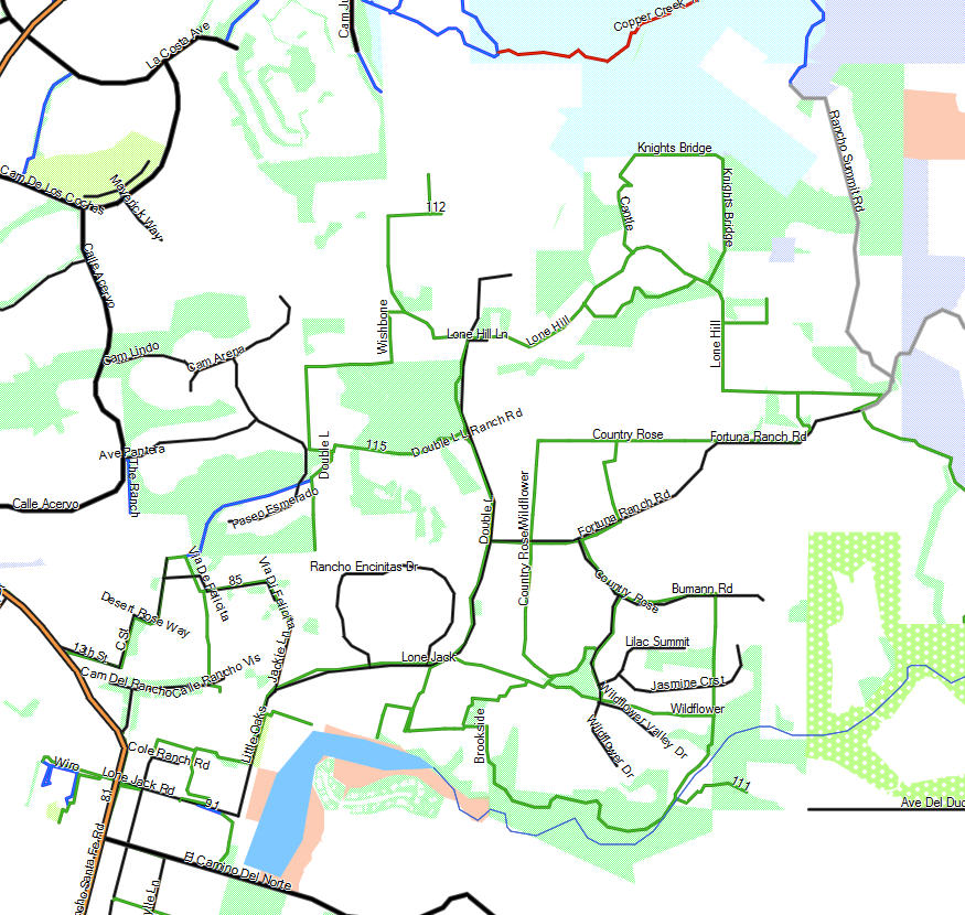 Encinitas California Trail Map