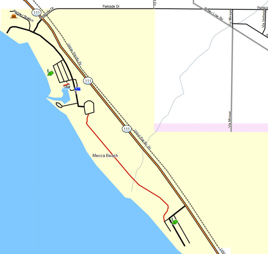 Salton Sea SRA California Trail Map - Salton sea on us map