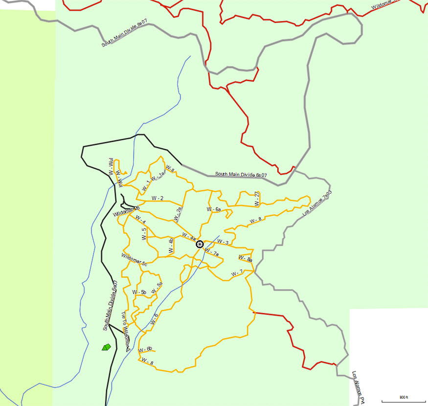 Cleveland Nf Ortega Highway California Trail Map