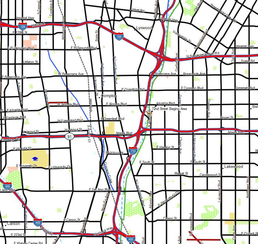 Los Angeles River Trail California Trail Map
