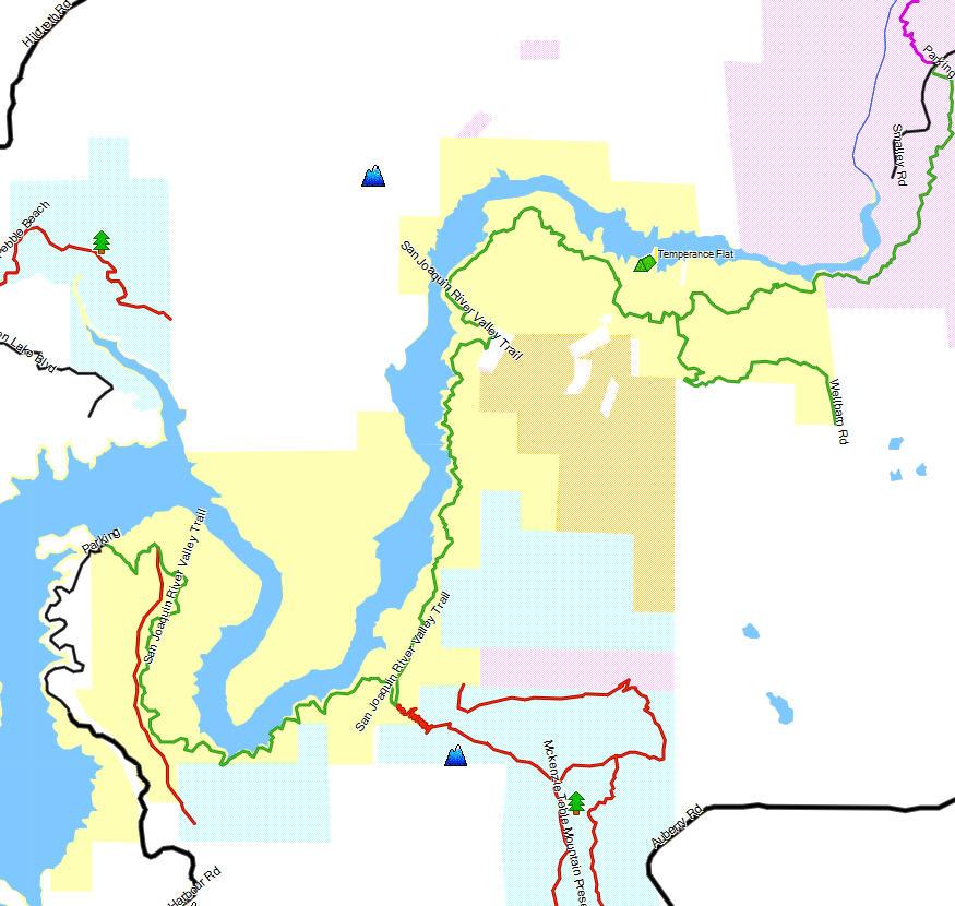 Millerton lake sra california trail map for Millerton lake fishing