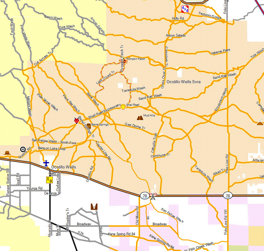 borrego springs ca map with Ocotillo Wells State Vehicular Recreation Area on Joshua Tree as well Metal Sculpture as well LocationPhotoDirectLink G32099 D144546 I233369830 Anza Borrego Desert State Park Borrego Springs California in addition Sitemap together with Ca abdsp 2.