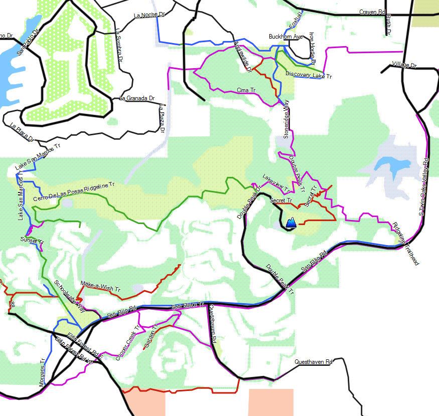 San Marcos California Trail Map