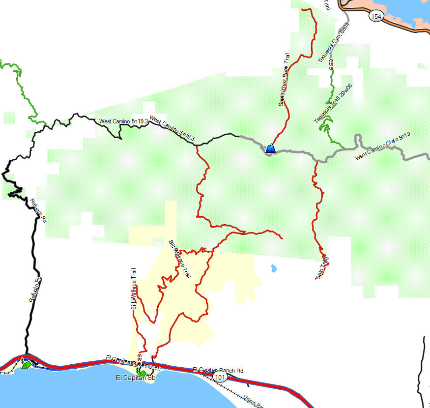 Warriors Path State Park Map: California Trail Map